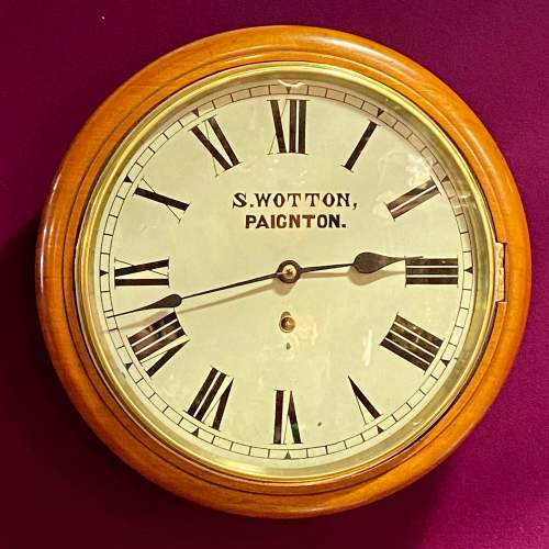 Late 19th Century American Walnut and Mahogany Cased Wall Clock image-1