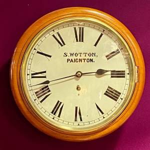 Late 19th Century American Walnut and Mahogany Cased Wall Clock