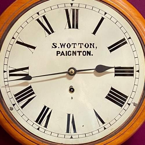 Late 19th Century American Walnut and Mahogany Cased Wall Clock image-2