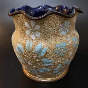 Royal Doulton Lambethware Chine Gilt Ware Posy Vase