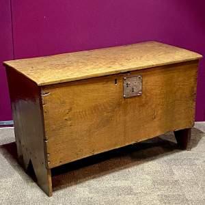 18th Century Oak Six Plank Coffer