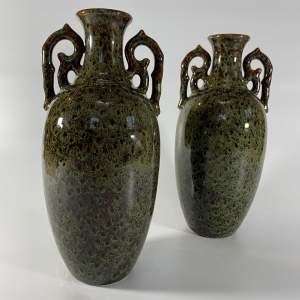 Pair of Mid Century Studio Pottery Vases