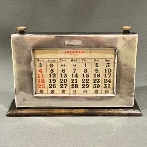 Early 20th Century Silver Framed Perpetual Calendar
