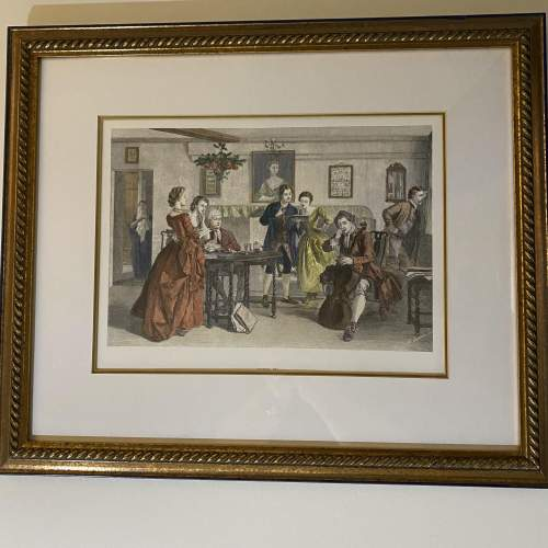 Victorian Musical Themed Print Titled Tuning Up image-1