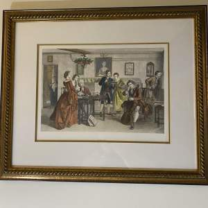 Victorian Musical Themed Print Titled Tuning Up