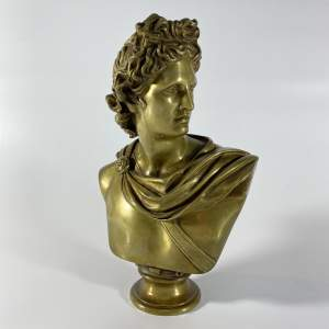 Bronze Bust of Apollo Greek God of Sun Light Music and Poetry