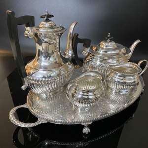 Viners Silver Plated Five Piece Tea and Coffee Service on a Tray