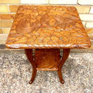 Liberty of London Circa 1900 Arts and Crafts Monkey Carved Table