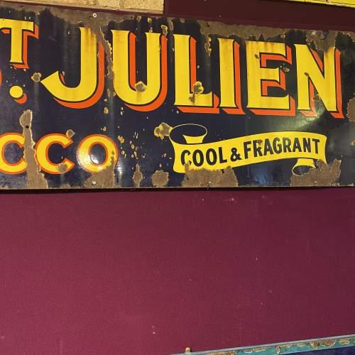 Edwardian Ogdens St Julien Tobacco Enamel Steel Advertising Sign image-1