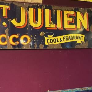 Edwardian Ogdens St Julien Tobacco Enamel Steel Advertising Sign