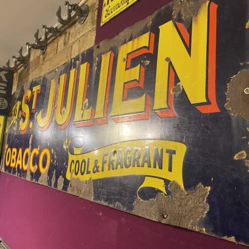 Edwardian Ogdens St Julien Tobacco Enamel Steel Advertising Sign image-2