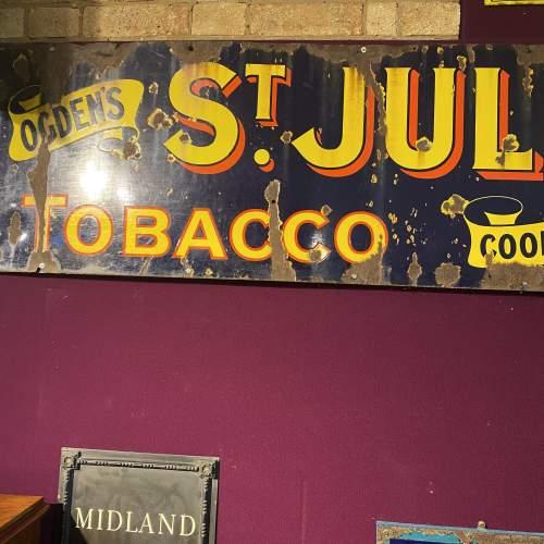 Edwardian Ogdens St Julien Tobacco Enamel Steel Advertising Sign image-3