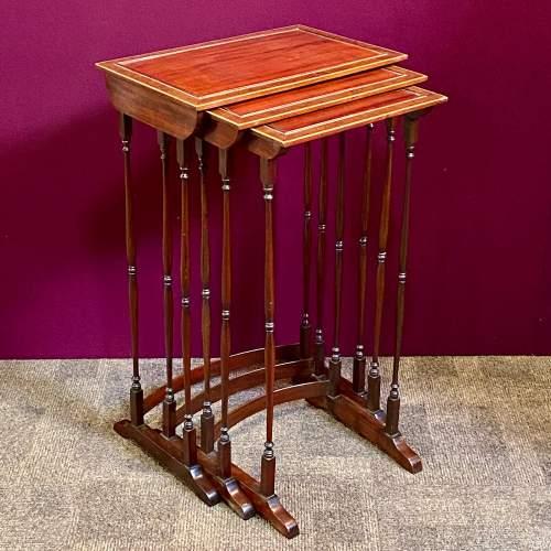Late 19th Century Nest of Mahogany Tables image-1