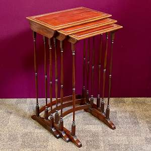 Late 19th Century Nest of Mahogany Tables