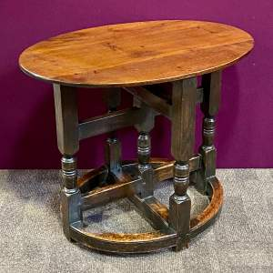 Oak Arts and Crafts Small Table