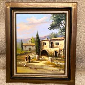 Raymond Saglietto French Farmhouse Painting