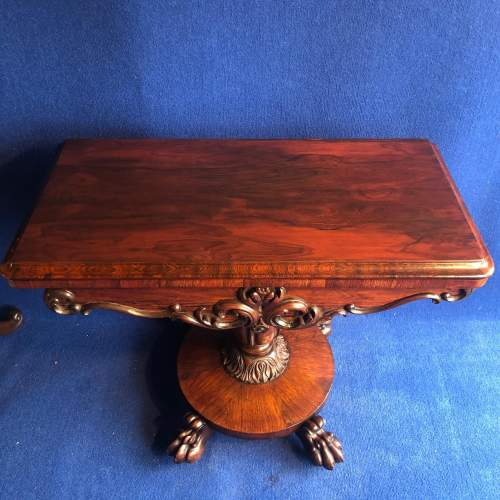 Early 19th Century Rosewood Games Table image-2