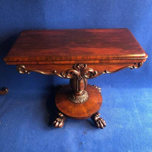 Early 19th Century Rosewood Games Table image-1