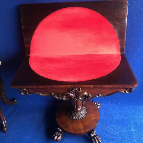 Early 19th Century Rosewood Games Table image-4