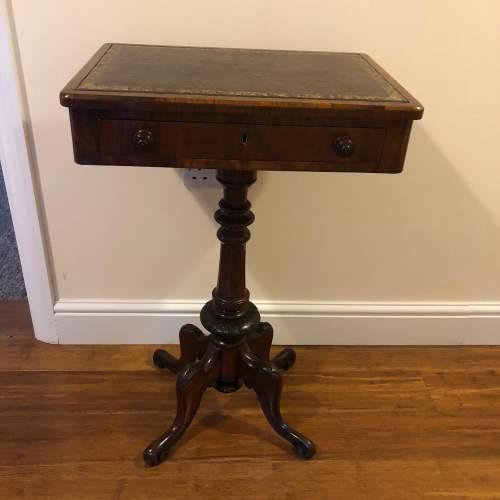 Victorian Walnut Side Table image-1
