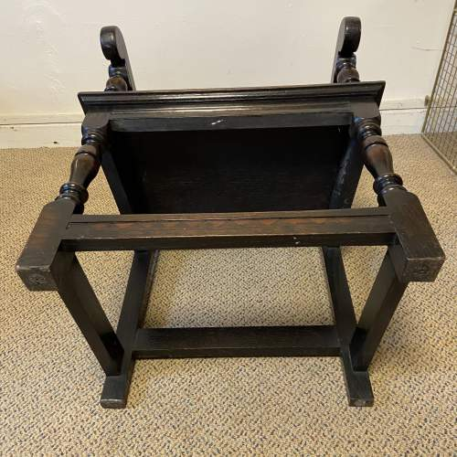 Late Victorian Oak Wainscot Style Armchair image-6