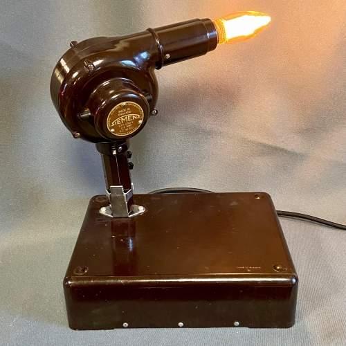 Vintage Bakelite Hairdryer Upcycled Lamp image-1