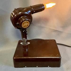 Vintage Bakelite Hairdryer Upcycled Lamp