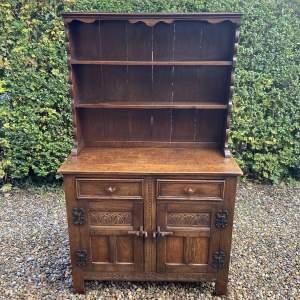 1930s Carved Oak Dresser