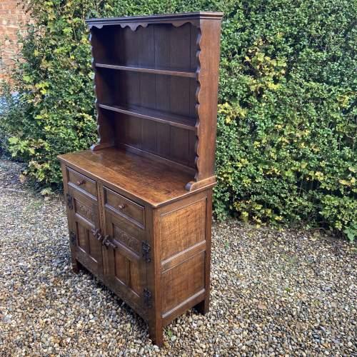 1930s Carved Oak Dresser image-2