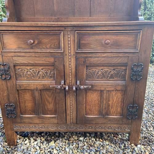 1930s Carved Oak Dresser image-3