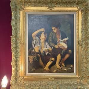 A Copy Of Boys Eating Fruit Painting Original  Bartolome Esteban