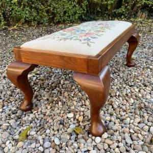 Tapestry Top Footstool
