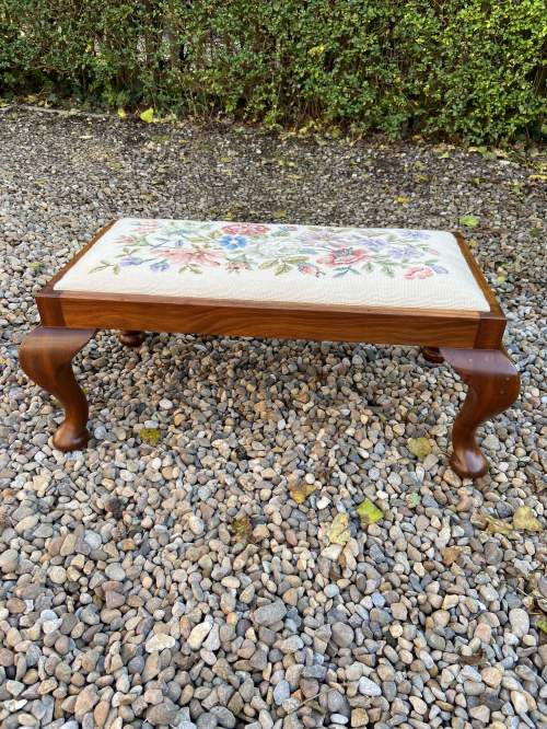 Tapestry Top Footstool image-2
