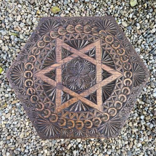 Elaborately Carved Oak Table image-2