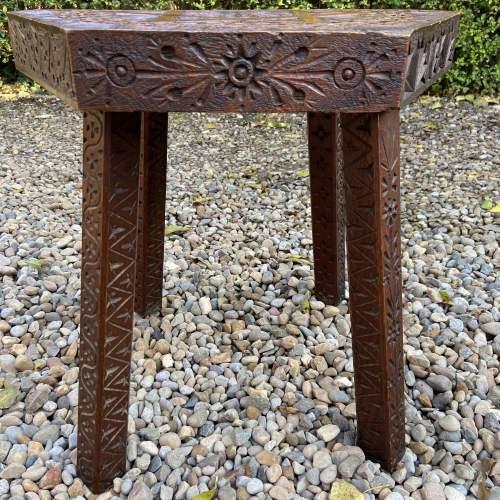 Elaborately Carved Oak Table image-3