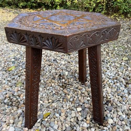 Elaborately Carved Oak Table image-4