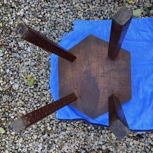 Elaborately Carved Oak Table image-5