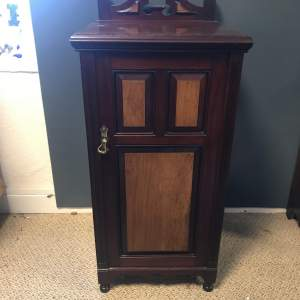 A Small Victorian Mahogany Cupboard with Brass Handle