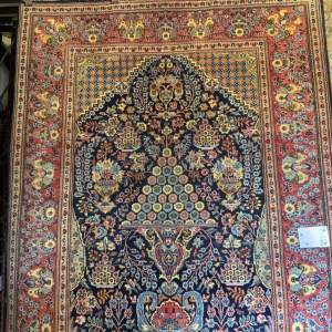 Superb Old Hand Knotted Persian Rug Saruk Unusual Floral Design