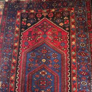 Old Hand Knotted Persian Rug Hamadan Good Quality Piece