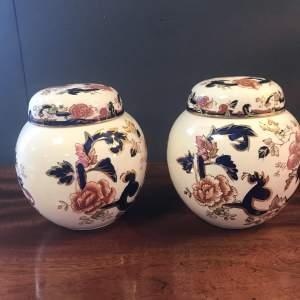 A Pair of Masons Ironstone Ginger Jars