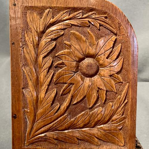 Large Carved Oak Table Bookcase or Bookstand image-3
