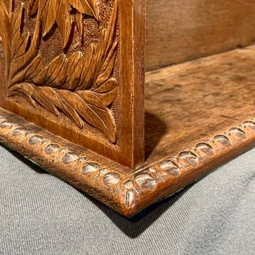 Large Carved Oak Table Bookcase or Bookstand image-4