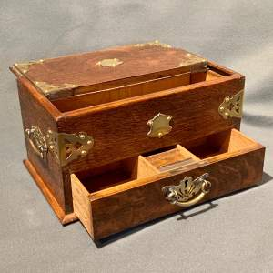 Early 20th Century Oak and Brass Table Box