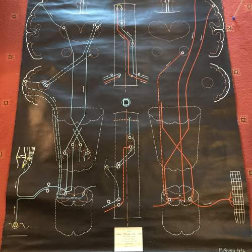 A Large Engineering Chart 1948 Signed P Sougy image-1