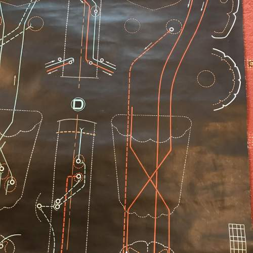 A Large Engineering Chart 1948 Signed P Sougy image-5
