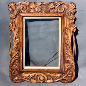Early 20th Century Hand Carved Oak Frame