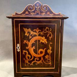 Antique Small Hand Painted Wooden Cabinet