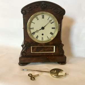8 Day Fusee Timepiece Circa 1820 in a Flame mahogany Case