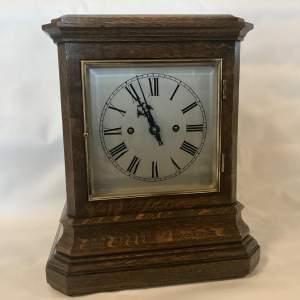 Superb 8 Day Twin Fusee Striking Oak Library Bracket Clock